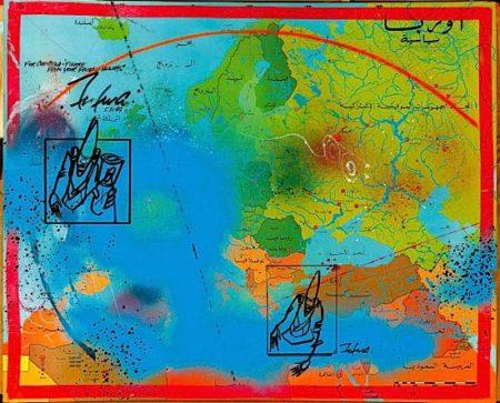 Futura-Carte d'Europe en Arabe-1989