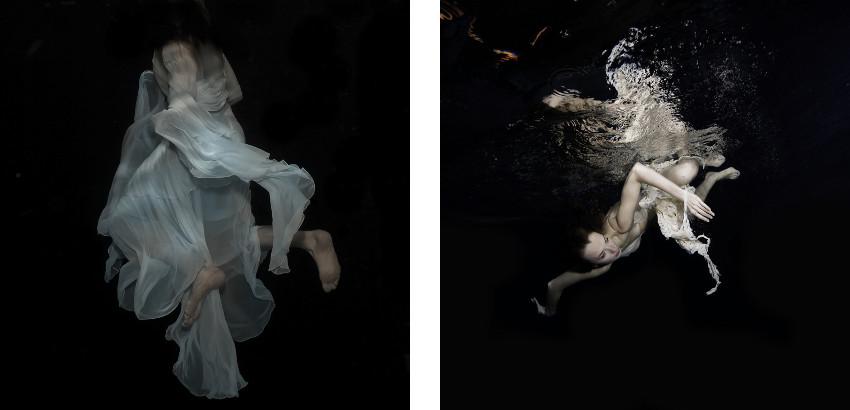 Gabriele Viertel - Storm Devotion - 2014 (Left) / Red Furie Water - 2013 (Right)