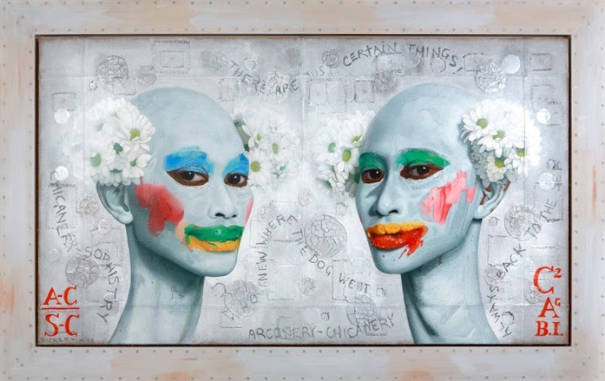 Gajah Gallery, Ashley Bickerton -  Arcanery-ChicaneryChicanery-SophistryC2A w, 2014