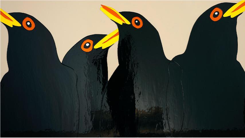 Gary Hume - Blackbirds of Art Painting, 2008