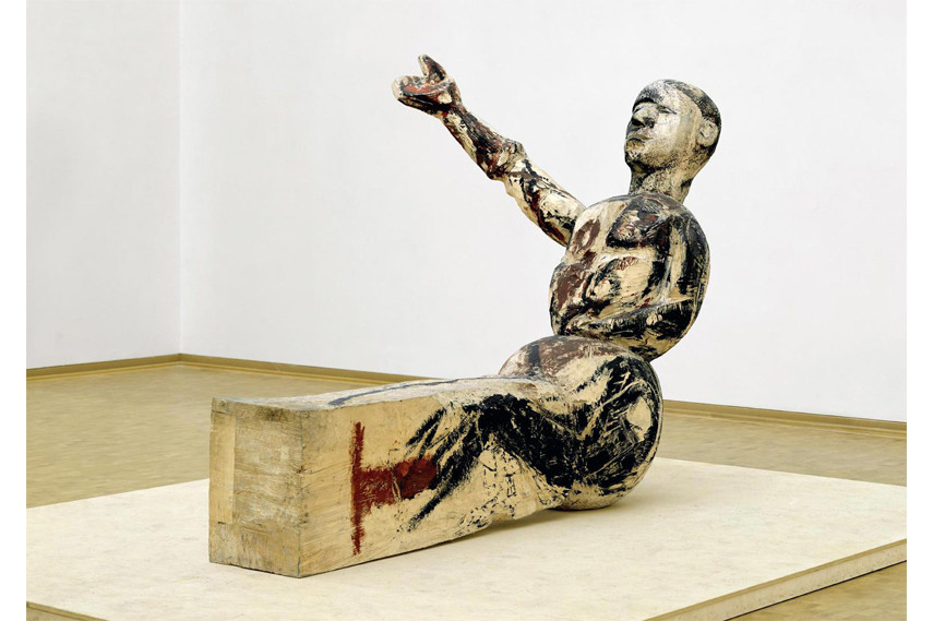 Georg Baselitz has pieces exhibited at museum in munich that is near his family home