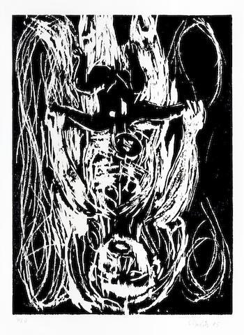 Georg Baselitz-Weisse Mutter, Schwarzes Kind-1985