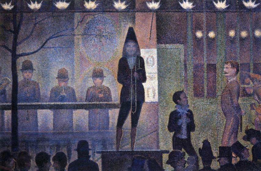 George Seurat - Circus, photo via wga.hu french page grande sunday seurat's paintings work paris pointillism, artist island