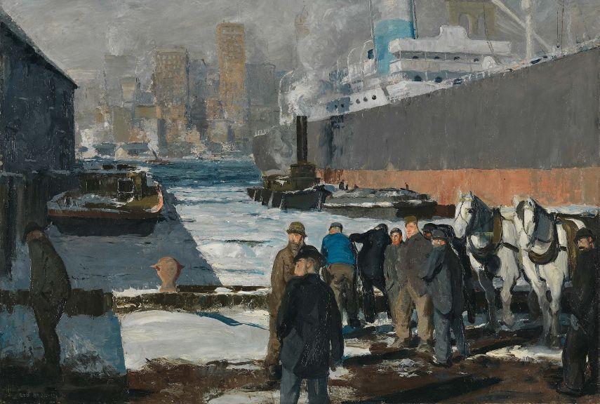 George Wesley Bellows - Men of the Docks, 1912 - Image via wikimediaorg