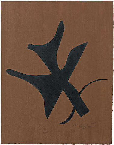 Georges Braque-Front cover, from Si je mourais la-bas-1962