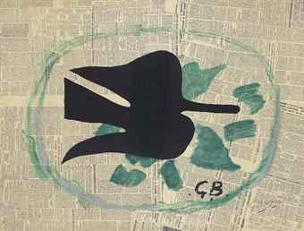 Georges Braque-L'oiseau dans le feuillage-1961