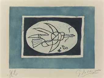 Georges Braque-Oiseau Bleu (Oiseau IV)-1952