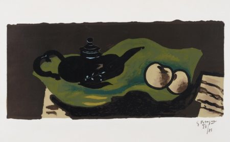 Georges Braque-Theiere et pommes (Teapot and Apples)-1946