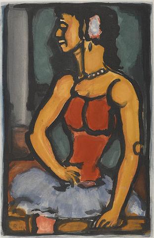 Georges Rouault-Douce Amere pl. 12 from Cirque de L'Etoile Filante-1934