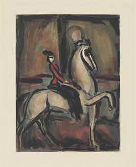 Georges Rouault-L'amazone, from Cirque-1930