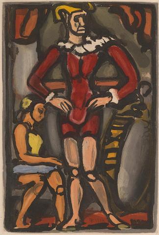 Georges Rouault-Master Arthur pl. 11 from Cirque de l'Etoile Filante-1934