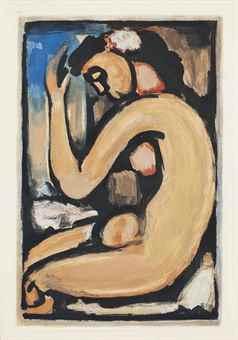 Georges Rouault-Nu de Profil, from Les Fleurs du Mal-1936