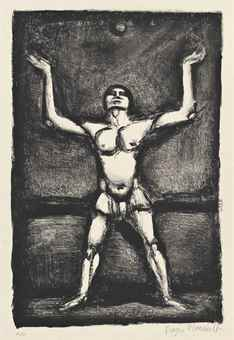 Georges Rouault-Three plates, from: Saltimbanques-1927