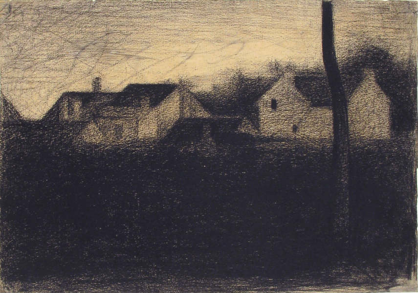 Georges Seurat - Landscape With Houses, photo via thommyfordreads.wordpress.com century