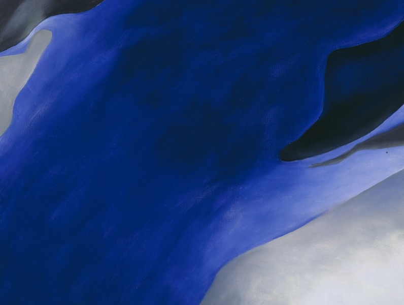 Georgia O'Keeffe - Blue, Black, and Grey, 1960