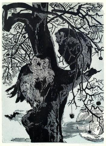 Gertrude Hermes-Owls-1955