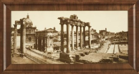 Giacomo Brogi-The Forum Temple Ruins Rome-1880