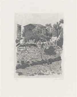 Giorgio Morandi-Il Poggio al mattino-1927