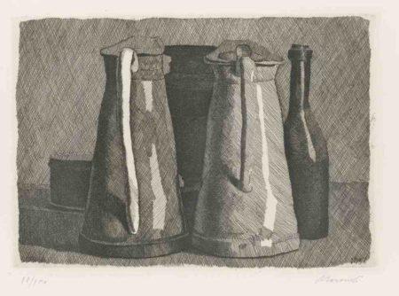 Giorgio Morandi-Natura Morta Con Cinque Oggetti-1956