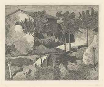 Giorgio Morandi-Paesaggio del Poggio-1927