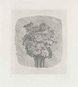 Giorgio Morandi-Zinnie in vaso a striscie-1929