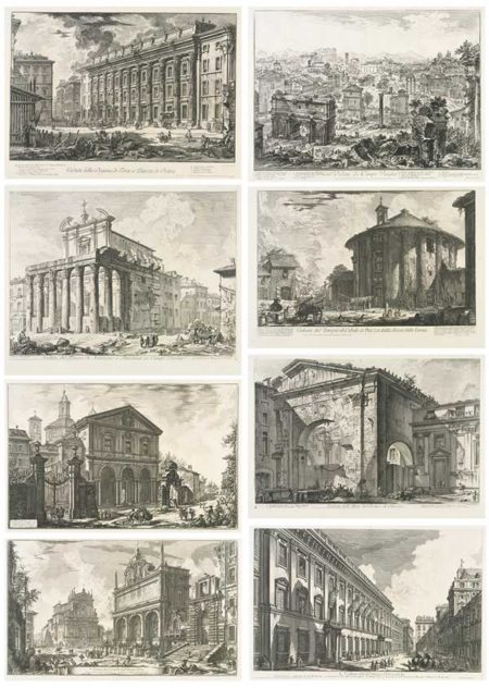 Giovanni Battista Piranesi-Views Of Rome: 10 Plates-1760