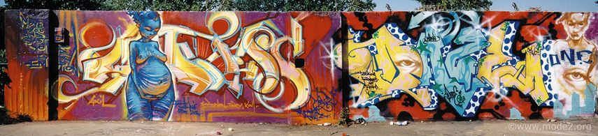 Goddess by Mode 2, next to Daze, Cleveland OH, 1999