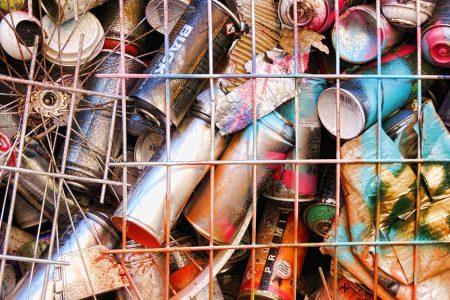 Graffiti spray cans