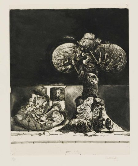 Graham Sutherland-Field Of Rocks, With A Candle (Campo Di Rocce)-1974