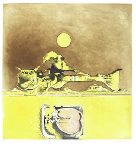 Graham Sutherland-Form in a desert I-1974