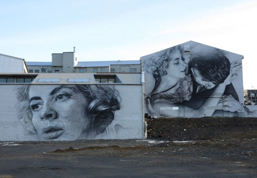 Mural in Iceland