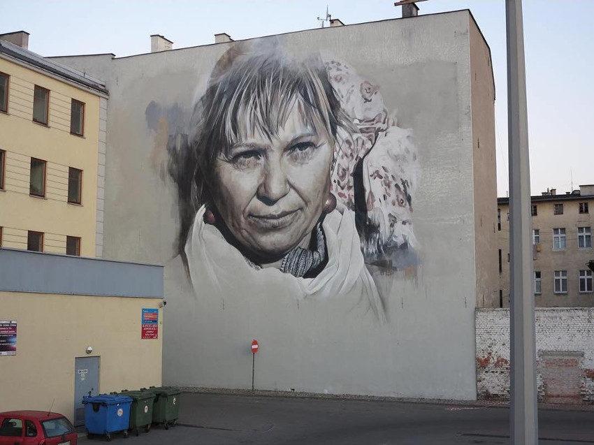 Guido van Helten - Mural in Grudziądz, Poland