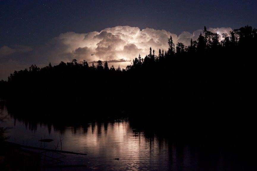 Lightning storm clean, on location ELA Canada,2015