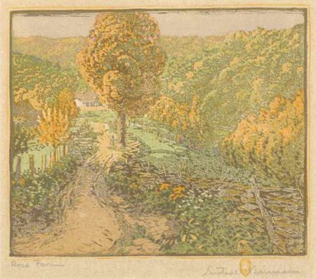 Gustave Baumann-Rose Farm-1917