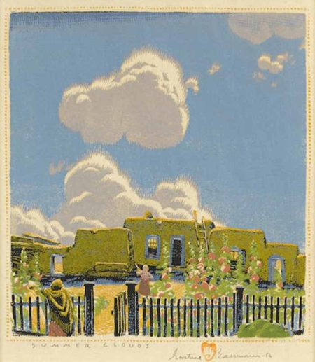 Gustave Baumann-Summer Clouds-1956
