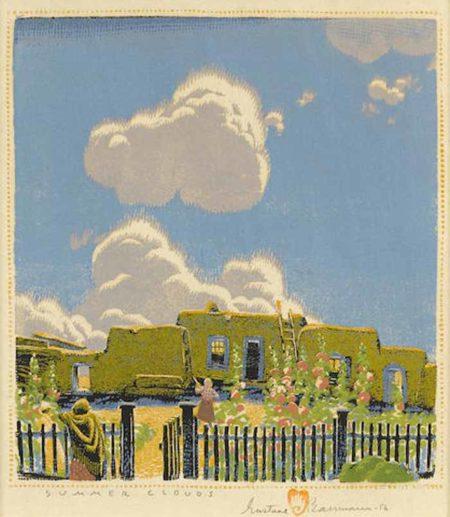 Gustave Baumann-Summer Clouds-1956