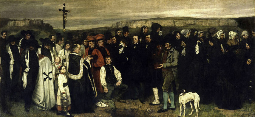 Gustave Courbet - A Burial at Ornans, 1851 school french portrait century