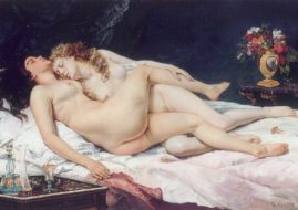 Gustave Courbet- Le Sommeil, 1866. Image via wikipedia.org