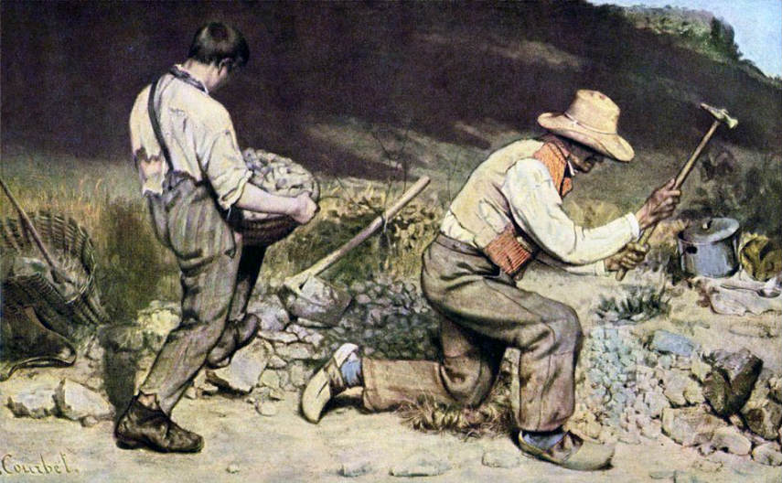 Gustave Courbet - The Stonebreakers, 1849 school french portrait century