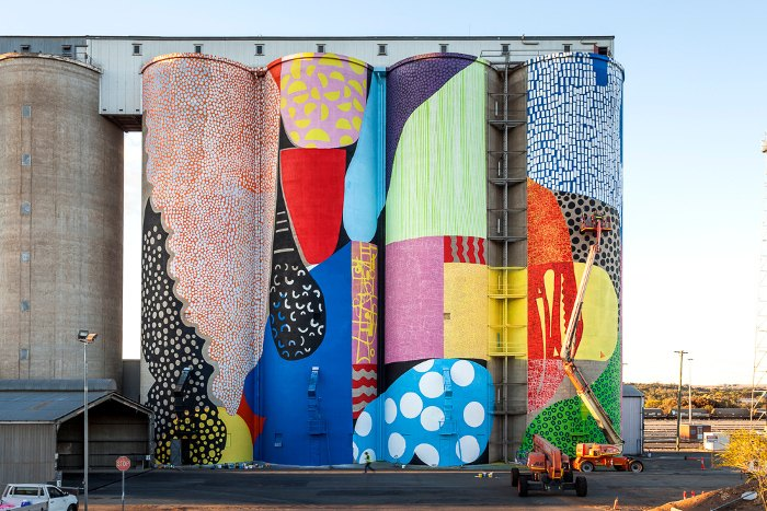 HENSE - Western Australia Silos, 2015, mural new lot