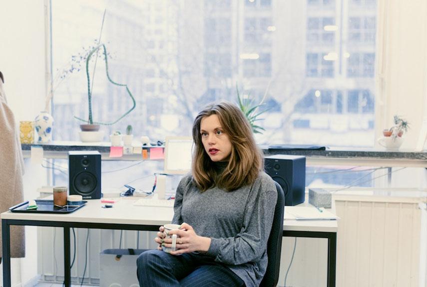 Hanne Lippard in her studio in Berlin, 2017