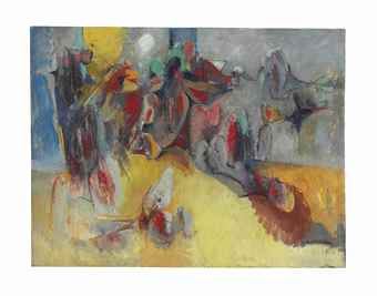 Hans Burkhardt-Abstract Landscape-1958