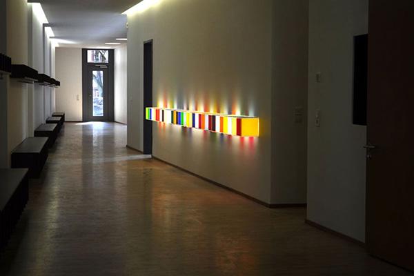 Harald Kröner's installation titled Regenbogenbox, 2010