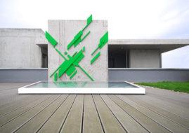 Heiko Zahlmann - Untitled 2014, concrete and dispersion.Private collection, Hamburg
