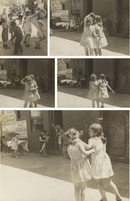 Helen Levitt-Girls Dancing Above 96Th Street Near 1St Avenue-1940