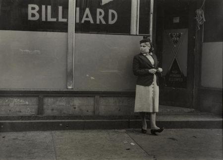 New York (Woman and Billiard Sign)-1942