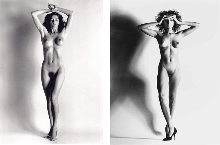 Photos of women were a favorite theme for Newton