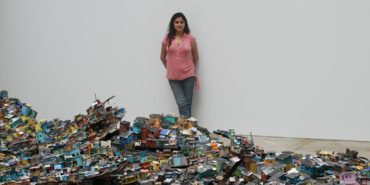 Hema Upadhyay - profile, next to Dream a Wish - Wish a Dream installation