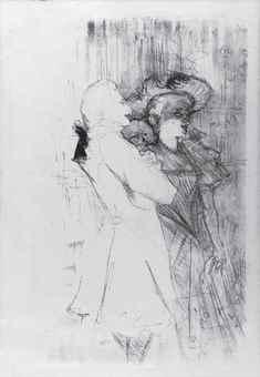 Henri de Toulouse-Lautrec-Henri De Toulouse-Lautrec - Lender et Auguez dans 'La Chanson de Fortunio'-1895