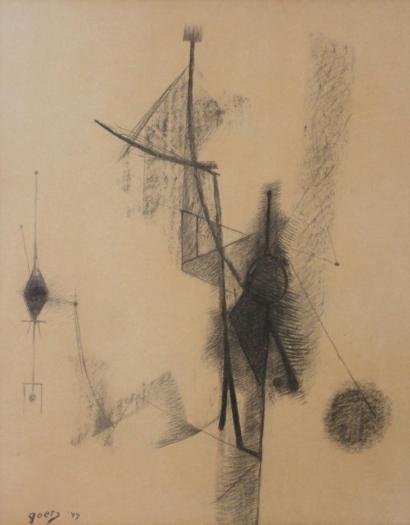 Henri Goetz-Abstract Composition-1949